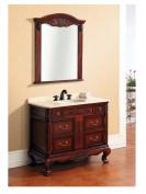 Dawn RTM320237-05 Solidwood and Plywood Frame Mirror, Reddish Brown Finish