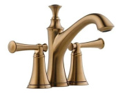 Brizo 65505LF-BZLHP Baliza Two Handle Mini-Widespread Lavatory Faucet without Handles, Brilliance Brushed Bronze
