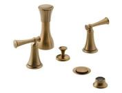 Brizo Baliza Brushed Bronze Two Handle Bidet Faucet