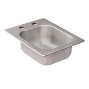 2000 Series Drop-in Stainless Steel 33cm . 2-Hole Single Bowl Bar Sink