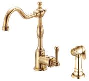 Danze Kitchen Opulence Single-Handle Side Sprayer Kitchen Faucet in Polished Brass D401557PBV