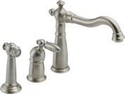 Delta Kitchen Victorian Single-Handle Side Sprayer Kitchen Faucet in Stainless 155-SS-DST