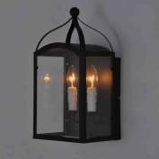 American country industrial loft style living room wall lamp hotel restaurant aisle aisle corridor candle wall sconce glass box