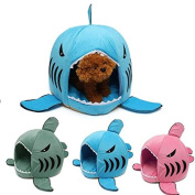 PhilMat S Size Cute Removable Shark Mouth Pet Dog Cat Kennel House Bed Washable