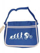 BIKER EVOLUTION- extreme sports evolution of man- Mens retro messenger bag