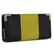 Ladies Faux Leather Stylish Zip Long Coin Purse Womens Wallet Card Holder