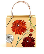 One Medium Dahlia Natural Gift Bag With Gift Tag