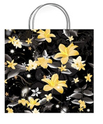 One Small Paradise Black Gift Bag With Gift Tag