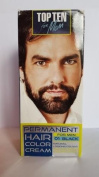 TOP TEN for Men,Permanent colour cream for hair,beard and moustache - 01 BLACK. Effect visible after 10 min.