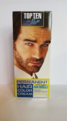 TOP TEN for Men,Permanent colour cream for hair,beard and moustache - 03 DARK BROWN. Effect visible after 10 min.