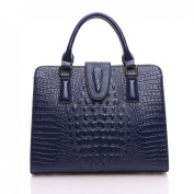 KAXIDY Women Ladies Handbags Genuine Leather Crocodile Grain Handbag Shoulder Top-Handle Bag