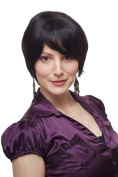 WIG ME UP ® - Lady Quality Wig short Page Bob black sexy parted fringe 1249-2