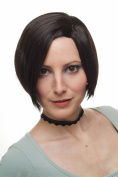 WIG ME UP ® - Lady Quality Wig short Page Bob dark brown sexy parting asymetrical cut 1248-4
