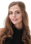 Gold Leaf Headdress Hair Jewellery Head Chain Headband Festival Grecian Vtg X-50 *EXCLUSIVELY SOLD BY STARCROSSED BEAUTY*
