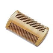 Beard comb in natural wood. Natural wood colour. Standard and fine teeth. Men's grooming - by RIVENBERT