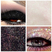Glitter Eyes Duo Set 9 - Black & Clear Holographic Eye Shadow Fixing gel Long Lasting