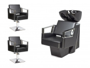 2 x Styling Chair + 1 Wash unit VERDE Barber set, Backwash multicoloured (2+1)