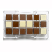 Polycarbonate Decorative Chocolate Panel Mould, Transparent, 275 x 175 x 22 mm