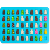 Joyoldelf 2 PACK - 50 Cavity Mini Gummy Bear Sweet Moulds for Hard Candy & Chocolate Making - Silicone Soap and Ice Cube Trays & Jelly Moulds