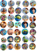 30 x Toy Story CupCake Toppers Edible Rice Paper 3.8cm image 1