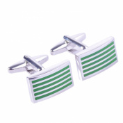 Salutto Men's Five Striped Cufflinks with Gift Box