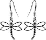 Sterling Silver 925 Dragonfly Earrings