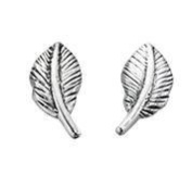 925 Silver Feather studs/Free Gift Box S44