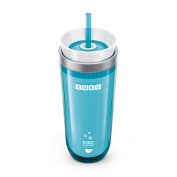 Zoku Iced Coffee or Tea Maker - Teal Blue Spill resistant insulated Travel mug