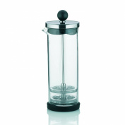 Kela 11460 Milk Frother Auron Glass 0.4 L with Base-Black