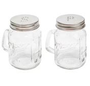 Glass Mason Jam Jars - Salt and Pepper Shakers