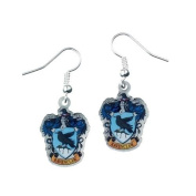 Harry Potter Silver Plated Ravenclaw Crest Drop Earrings on Harry Potter Card