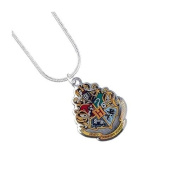 Official Licenced Harry Potter Silver Plated Hogwarts Crest Necklace