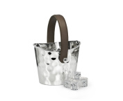Edzard ED8455 Gilbert Hammered Ice Bucket Nickel-Plated Metal, Height 14 CM, without decoration