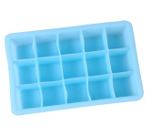 YIJIA Silicone Ice Cube Trays 15-Cavity DIY Ice Block Maker Mould for Daily Kitchen/Bar Use and Cooling Your Whiskey/Drinks
