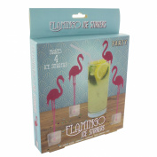 Paladone Flamingo Ice Stirrers, Multi-Colour, Pack of 4