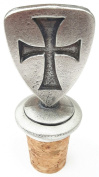 Templar Shield Handcrafted From English Pewter Bottle Stopper + GiftBag