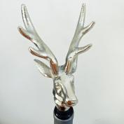 Bottle Stopper Stag Bottle Stopper Height 19 cm Aluminium Silver