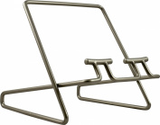 David Mason Design Fusion Wire Cookbook Stand, Nickel, Silver