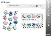 12 x Designers Guild Push Pins Thumb Tacks Notice Cork Or Memo Board Office Home