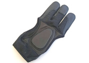 Quality Black Mesh Archery Shooting Gloves. Archery Gloves.