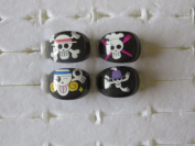 PIRATE PARTY BAG RINGS PACK OF 4