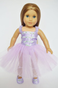 Lavender Ballerina Outfit For American Girl Dolls