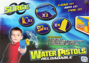 Surge Water Pistol Wars - Reloadable - 2 Pistols