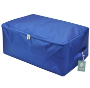 Large Waterproof Thick Oxford Comforter Storage Bag, Collapsible Design, Durable Handles for Season Items Storage