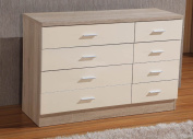 Gladini High Gloss 8 Drawer - Chest of Drawers (4+4)