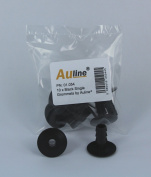 10 x Black Single Wall Entry Grommets by Auline® Tidy Solution for Feeding Aerial / Satellite Cable