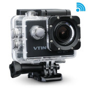 VicTsing 1080P WIFI 12MP 170 Degree FHD Sports Action Camera Waterproof DV DVR Camcorder with 2 Batteries and Free Accessories