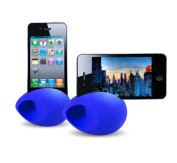 iFly Sound Amplifier;BDT008, Portable Wireless Silicone Sound Speaker for iPhone 4 and 4S, No External Power Source or Batteries Required, Use Indoors and Outdoors - Blue