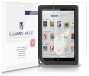 iLLumiShield - Barnes & Noble Nook HD+ Screen Protector Japanese Ultra Clear HD Film with Anti-Bubble and Anti-Fingerprint - High Quality (Invisible) LCD Shield - Lifetime Replacement Warranty - [2-Pack] OEM / Retail Packaging