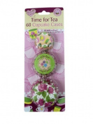 Time for Tea Set of 60 Muffin Cupcake Cases Cup Mini Fairy Cake Bun Baking Case